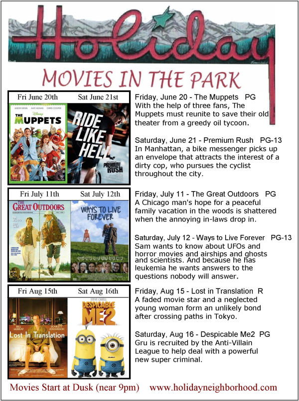 2014 Movies in the Park